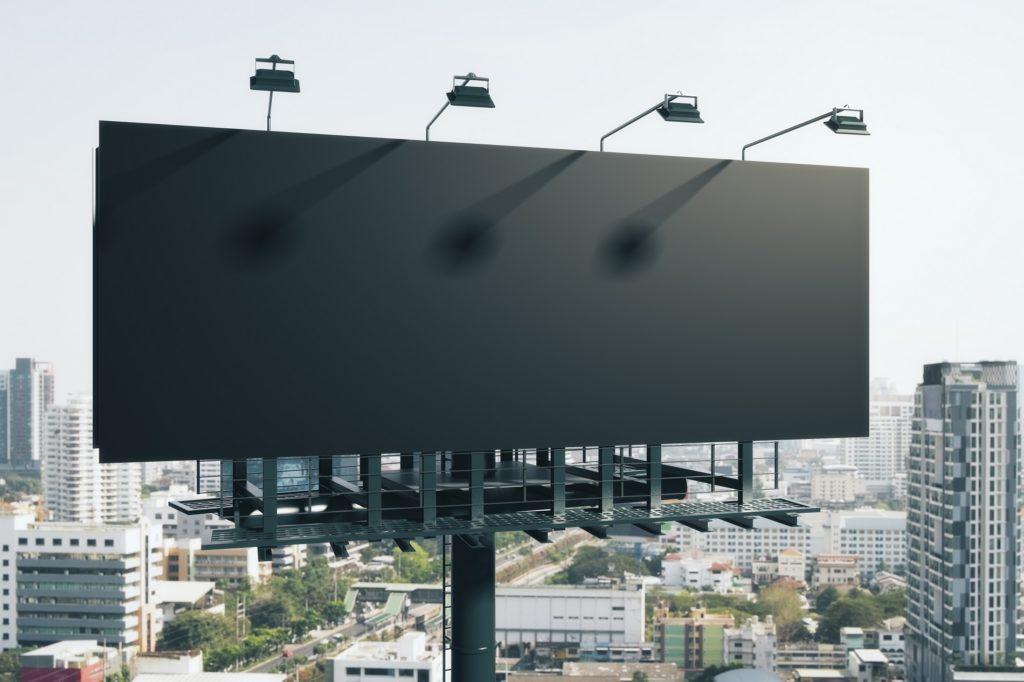 iant billboard on highway